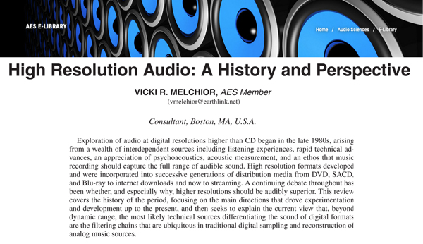 A High-Resolution Audio Primer