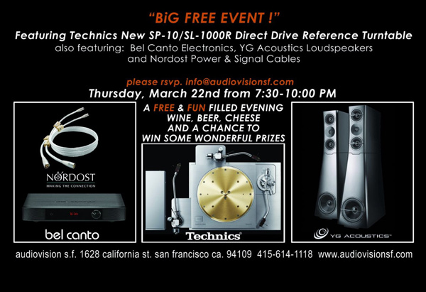 Technics Event in San Francisco and Gryphon Event in NY Thursday