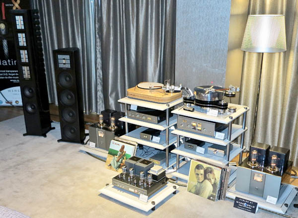 Air Tight ATM-2Plus Amplifier and PC-1 Coda Cartridge, Reed Muse 1C and Transrotor Rondino Turntables, Piega MLS 3 Speakers