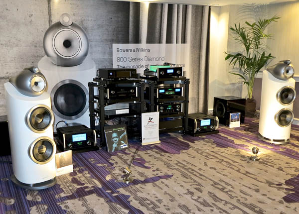 Bowers & Wilkins 800D3 Speakers and DB1 Subwoofers, McIntosh C1100 Preamp, Aurender A30 Server, Solid Tech Racks, Synergistic Research AC Conditioner