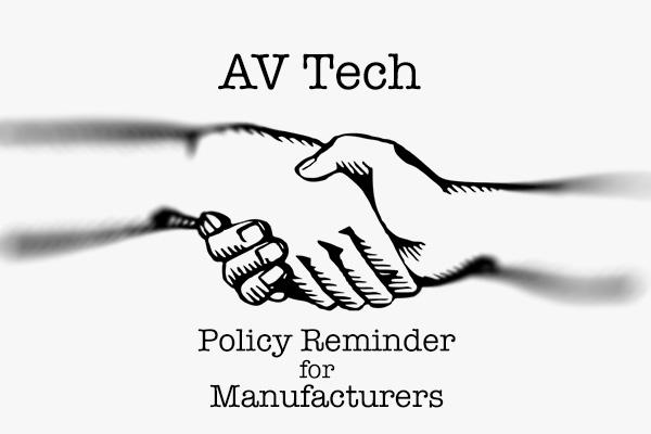 AV Tech Media Review Policy