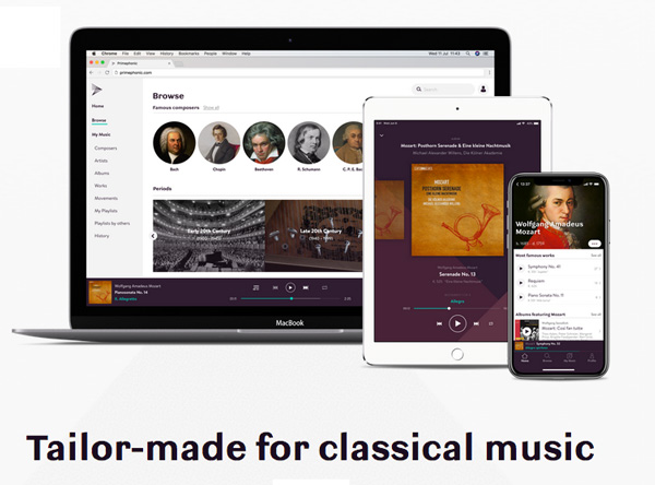 Primephonic Launches Classical Streaming in the US and Europe
