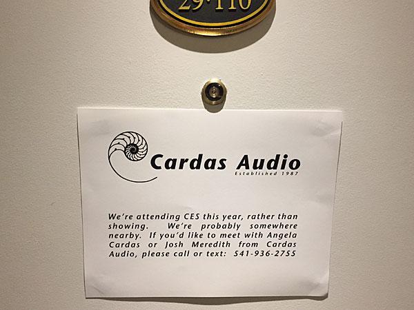 Cardas Audio's Unique Approach To CES