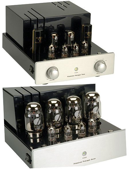 primaluna prologue three tube preamplifier seven monoblock amplifier. Black Bedroom Furniture Sets. Home Design Ideas
