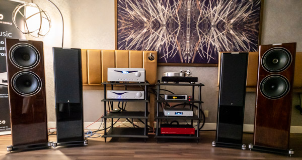 Fyne Audio Loudspeakers, Audia Flyte Electronics, Melco server, Lindemann DAC, Swiss Cables, Quadraspire Racks