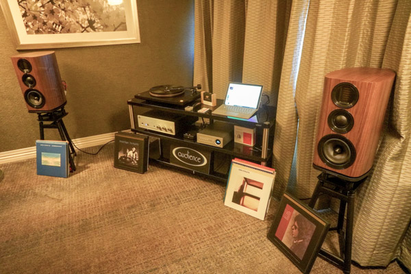 MoFi Turntable, Cartridge and Phono Stage, Rogue Integrated Amplifier, Heed DAC, Wharfedale speakers, Audience cabling