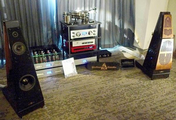 Gershman Grande Avant Garde Loudspeakers, VAC Master Preamp, Nordost Cables