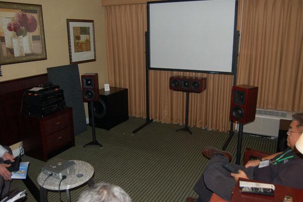 Hsu Research Was Showing Off Its Reasonably Priced HB 1 Mk2 Horn Bookshelf Speaker 149 Pair In Black 179 Real Wood Veneer And The