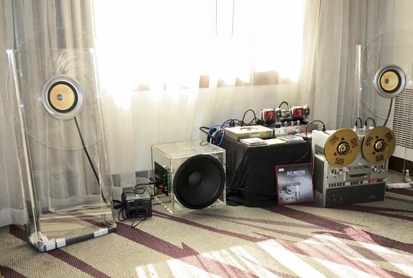 EleKit TU-8600R integrated amplifier, Sparkler Audio S503 Spiral CD Player/Transport, AER Excenter Loudspeakers