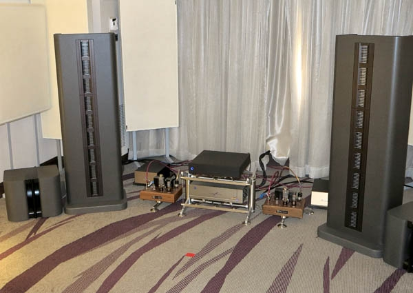 Arion Apollo Loudspeakers, LS-200 Linestage, 2A3 Tube Amplifiers, and HS-500 Hybrid Mono Amplifiers; EMM DA2 DAC; Wolf Alpha 3 Music Server; VPI HW-4 turntable, etc.