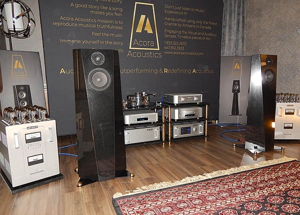 Esoteric SACD Player/DAC, Audio Research Amplifiers, Acora Speakers, Cardas Cables