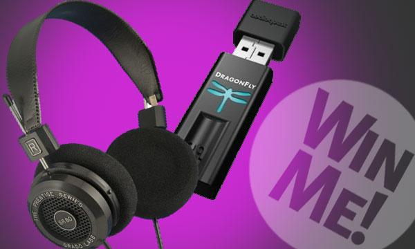 Audioquest Dragonfly DAC and Grado SR80i Headphones from