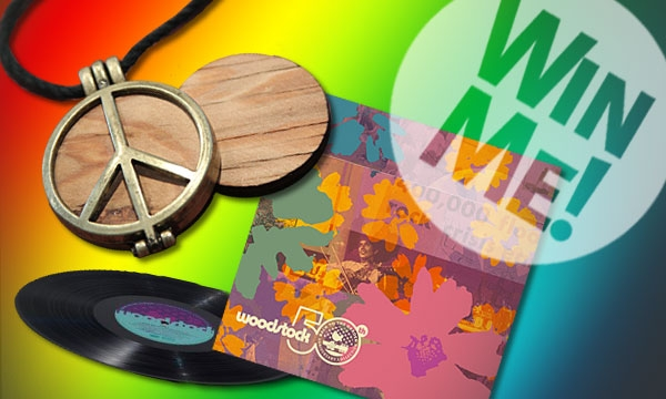 """Woodstock 50th Anniversary """"Peace of Stage"""" and 5 Vinyl LP Back To The Garden Sweepstakes"""